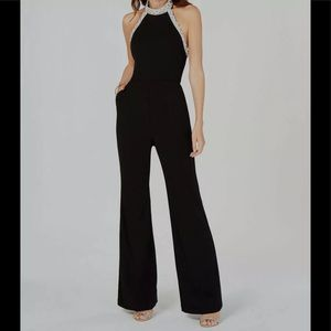 Adrianna Papell knit crepe beaded jumpsuit